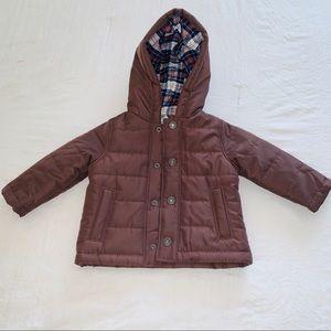 CARTERS Baby 9 mo Brown Puffer Coat